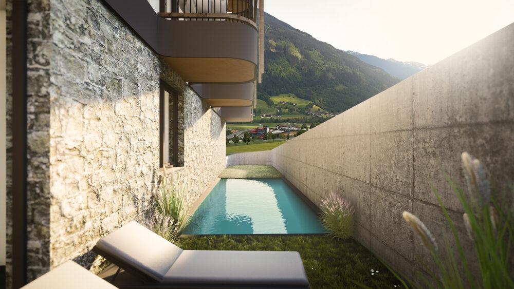 Zwembad Appartement Fugen Welness | Double Dutch Real Estate